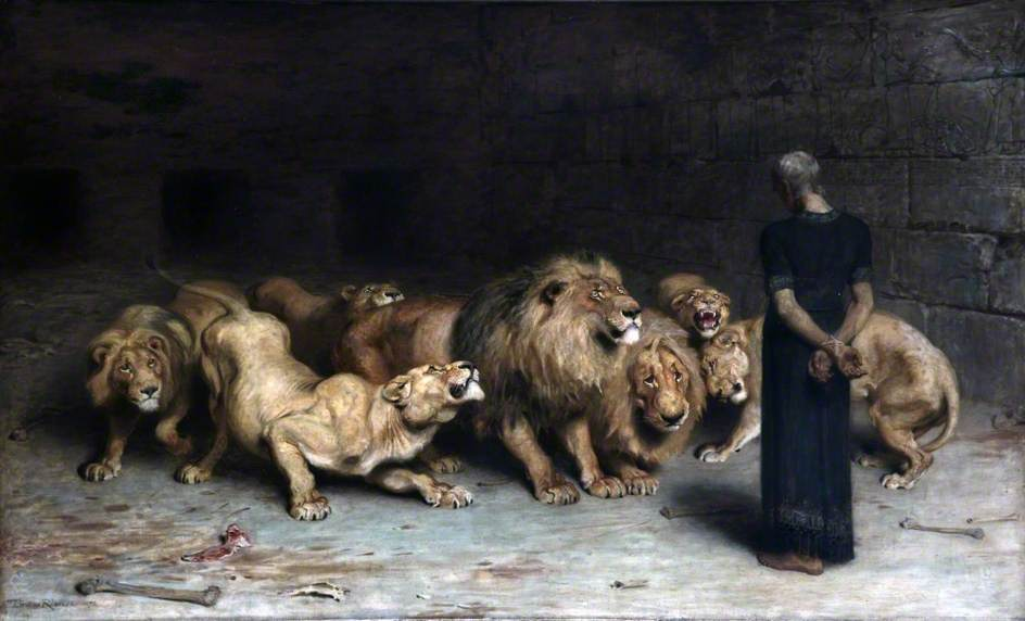 Daniel in the Lion's Den-1872 by Briton Riviere
