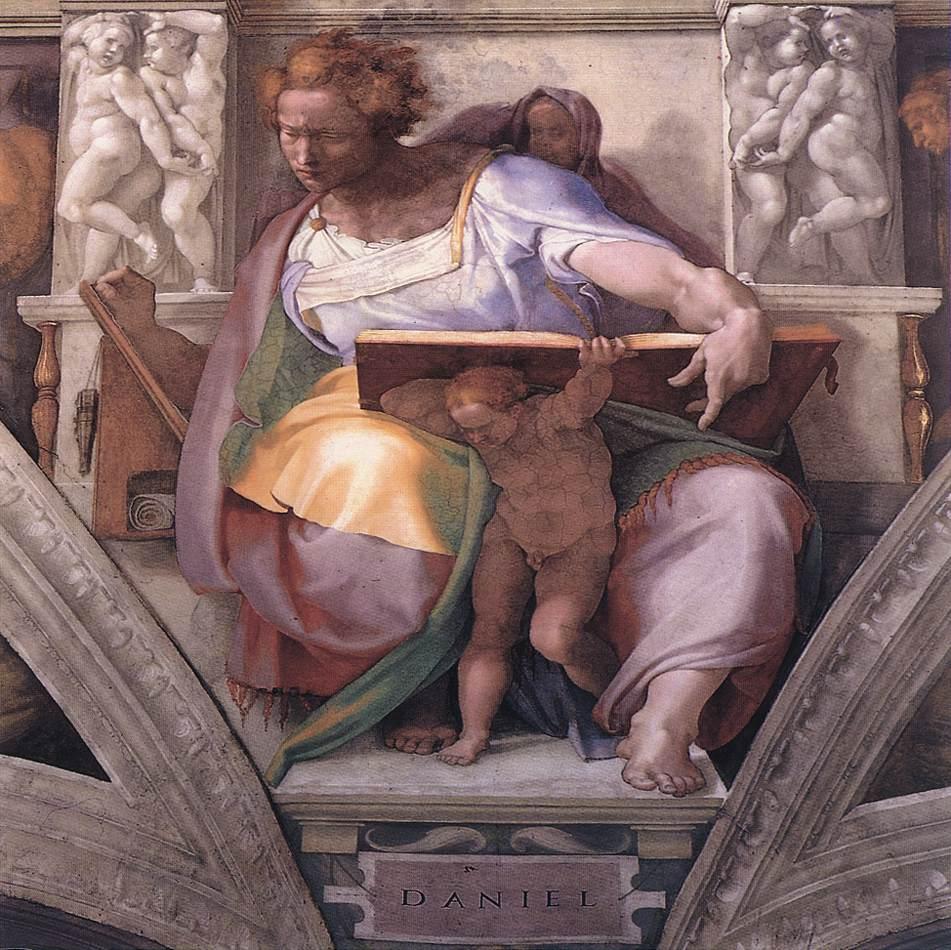 The Prophet Daniel -1511 by Michelangelo