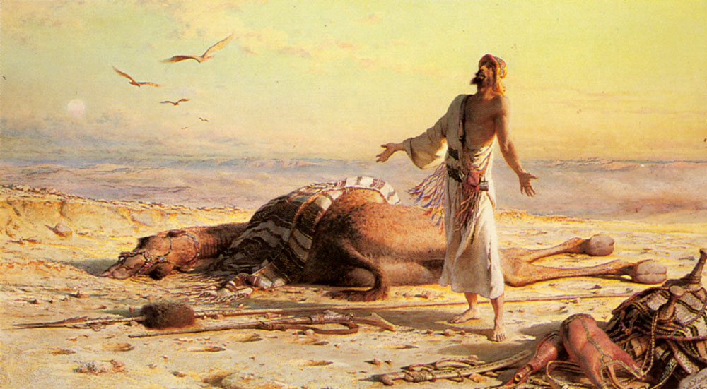 Shipwreck in the Desert by Carl Haag (1820-1915)