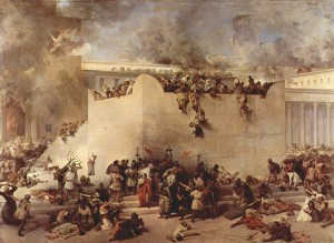 Francesco Hayez-The destruction of the Temple of Jerusalem.1867